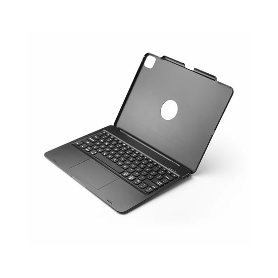 Case2go iPad Pro 12.9 (2020) - Bluetooth Toetsenbord hoes - Toetsenbord verlichting - Touchpad - Zwart