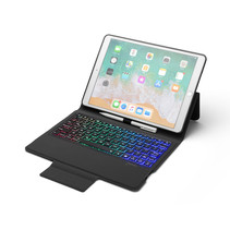 iPad 10.2 inch (2019) case - Bluetooth Toetsenbord hoes - Zwart