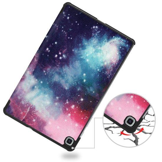 Case2go Samsung Galaxy Tab S6 Lite hoes  - Tri-Fold Book Case - Galaxy
