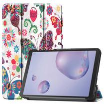 Samsung Galaxy Tab A 8.4 (2020) hoes - Tri-Fold Book Case - Vlinders