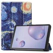 Samsung Galaxy Tab A 8.4 (2020) hoes - Tri-Fold Book Case - Sterrenhemel