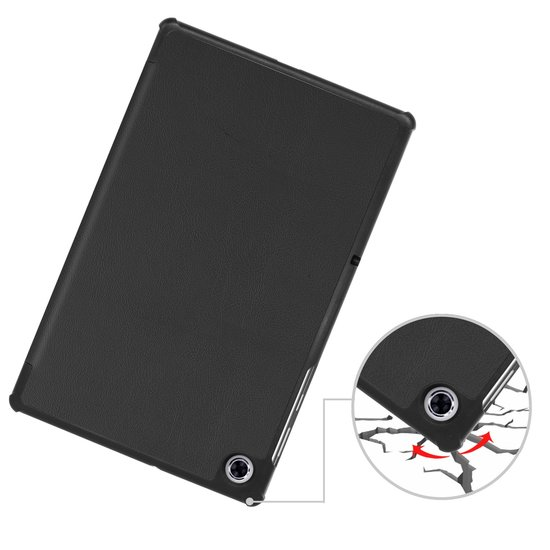 Case2go Lenovo Tab M10 Plus hoes  - Tri-Fold Book Case (TB-X606) - Zwart