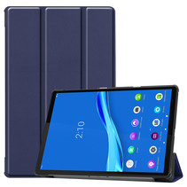 Lenovo Tab M10 Plus hoes  - Tri-Fold Book Case (TB-X606) - Donker Blauw
