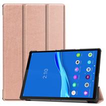 Lenovo Tab M10 Plus hoes - Tri-Fold Book Case (TB-X606) - Rosé Goud