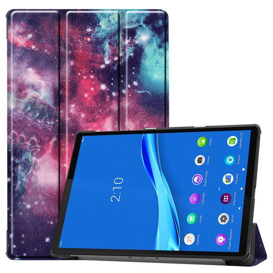 Case2go Lenovo Tab M10 Plus hoes  - Tri-Fold Book Case (TB-X606) - Galaxy