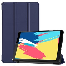 Lenovo Tab M8 FHD hoes  - Tri-Fold Book Case - Donker Blauw