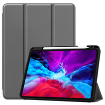 iPad Pro 11 (2020) hoes - Tri-Fold Book Case Met Apple Pencil Houder - Grijs