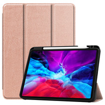 iPad Pro 11 (2020) hoes - Tri-Fold Book Case Met Apple Pencil Houder - Rosé Goud