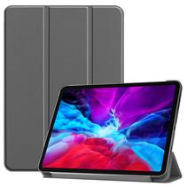 iPad Pro 12.9 (2020) hoes - Tri-Fold Book Case - Grijs