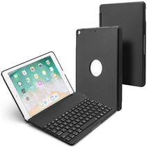 iPad 9.7 (2017/2018) Case - Bluetooth toetsenbord hoes - QWERTY layout - Magneetsluiting - Sleep/Wake-up functie - Zwart