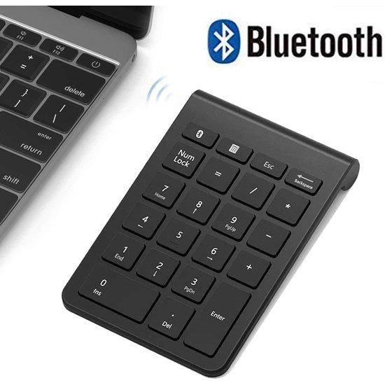Case2go Draadloze Numpad - Draadloos Numeriek Toetsenbord - 22 toetsen - Bluetooth - Zwart