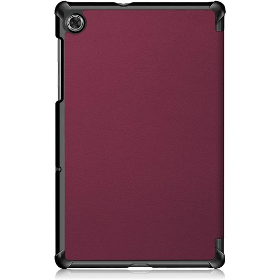 Case2go Lenovo Tab M10 Plus hoes  - Tri-Fold Book Case (TB-X606) - Donker Rood