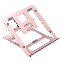 Opvouwbare laptop / macbook standaard - 11.6 tot 17.3 inch - Verstelbare hoogte - Aluminium - Rosé-Goud