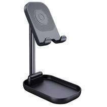 Wiwu - Universele telefoonhouder - Tablet Standaard - Ergonomisch en opvouwbaar design - Bureau standaard - Zwart