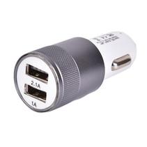 Autolader USB - 2 USB Poorten Auto Oplader - Wit/Grijs