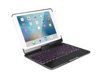 iPad 10.2 2019 / 2020 / 2021 case - Bluetooth Toetsenbord hoes - 360 graden draaibaar - met Toetsenbord Verlichting - Zwart
