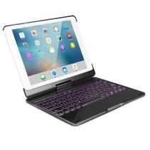 iPad 10.2 (2019) case - Bluetooth Toetsenbord hoes - 360 graden draaibaar - met Toetsenbord Verlichting - Zwart