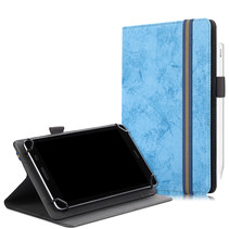 Universele 7/8 inch tablet hoes - Wallet Book Case - Licht Blauw
