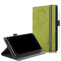 Universele 7/8 inch tablet hoes - Wallet Book Case - Groen