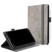 Universele 7/8 inch tablet hoes - Wallet Book Case - Grijs
