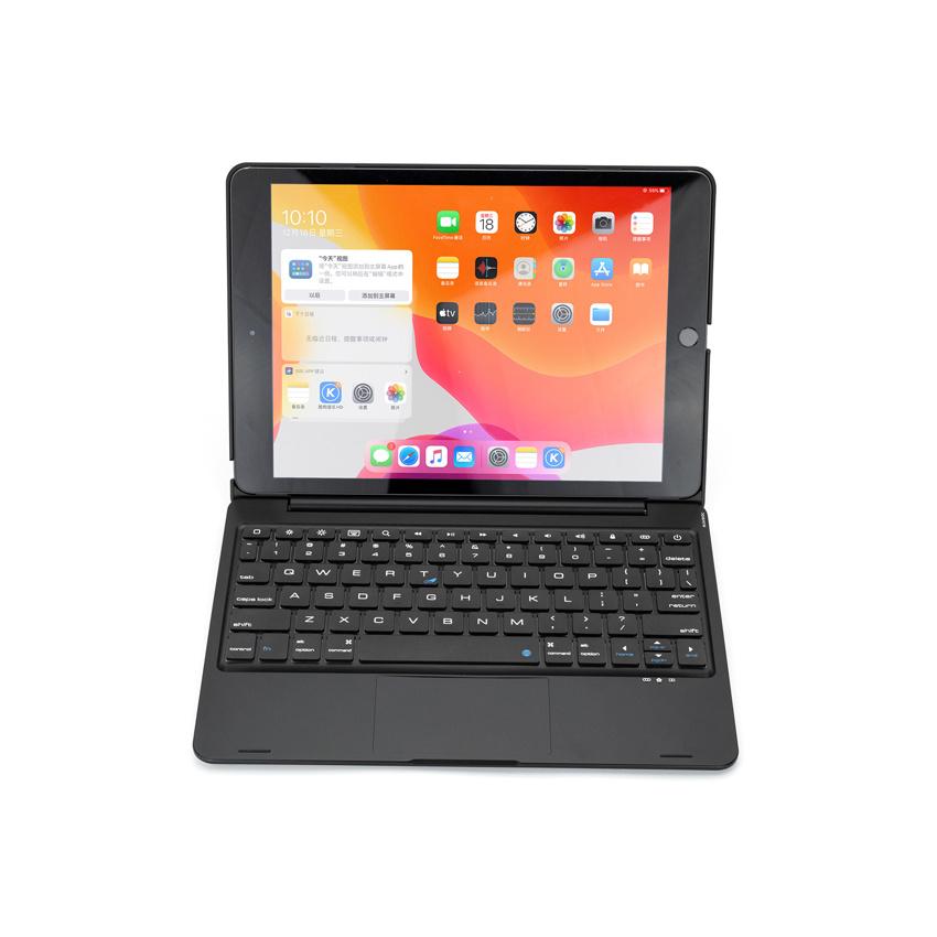 iPad 10.2 2019 2020 case Bluetooth Toetsenbord hoes met Touchpad Zwart