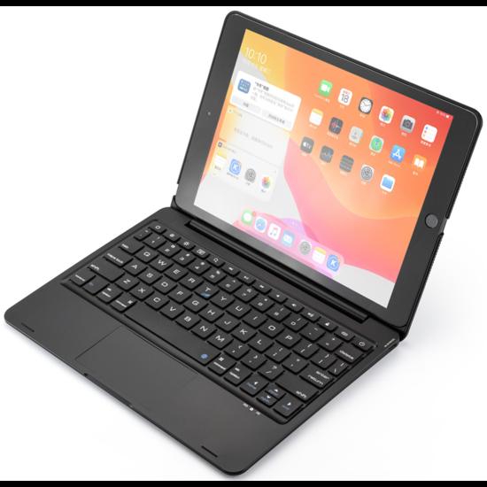 Case2go iPad 10.2 2019 / 2020 case - Bluetooth Toetsenbord hoes - met Touchpad - Zwart