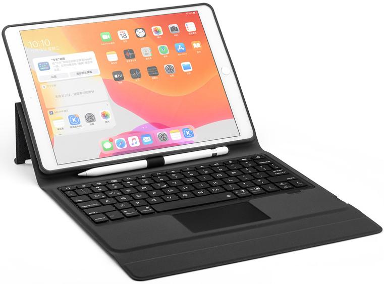 iPad 10.2 2019 2020 case Bluetooth Toetsenbord hoes met Touchpad & To
