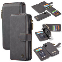 CaseMe - Samsung Galaxy S20 hoesje - Wallet Book Case met Ritssluiting - Zwart