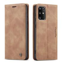 CaseMe - Samsung Galaxy S20 Plus hoesje - Wallet Book Case - Magneetsluiting - Licht Bruin