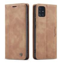 CaseMe - Samsung Galaxy A51 hoesje - Wallet Book Case - Magneetsluiting - Licht Bruin