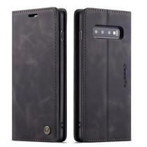 CaseMe - Samsung Galaxy S10 hoesje - Wallet Book Case - Magneetsluiting - Zwart
