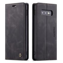 CaseMe - Samsung Galaxy S10e hoesje - Wallet Book Case - Magneetsluiting - Zwart