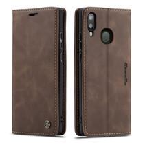 CaseMe - Samsung Galaxy A30 hoesje - Wallet Book Case - Magneetsluiting - Donker Bruin