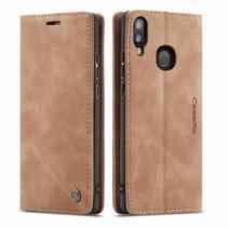 CaseMe - Samsung Galaxy A40 hoesje - Wallet Book Case - Magneetsluiting - Licht Bruin