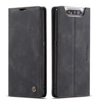 CaseMe - Samsung Galaxy A80 hoesje - Wallet Book Case - Magneetsluiting - Zwart
