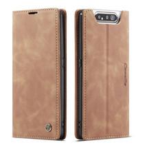 CaseMe - Samsung Galaxy A80 hoesje - Wallet Book Case - Magneetsluiting - Licht Bruin
