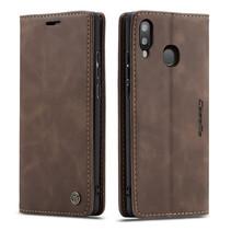 CaseMe - Samsung Galaxy A20e hoesje - Wallet Book Case - Magneetsluiting - Donker Bruin