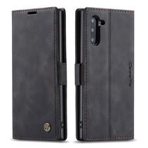 CaseMe - Samsung Galaxy Note 10 hoesje - Wallet Book Case - Magneetsluiting - Zwart