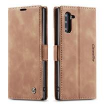 CaseMe - Samsung Galaxy Note 10 hoesje - Wallet Book Case - Magneetsluiting - Licht Bruin