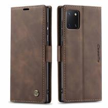 CaseMe - Samsung Galaxy Note 10 Lite hoesje - Wallet Book Case - Magneetsluiting - Donker Bruin