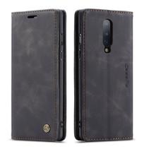 CaseMe - OnePlus 8 hoesje - Wallet Book Case - Magneetsluiting - Zwart