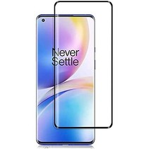 OnePlus 8 Screenprotector - Full Cover Screenprotector - Gehard Glas - Zwart