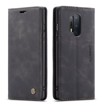 CaseMe - OnePlus 8 Pro hoesje - Wallet Book Case - Magneetsluiting - Zwart