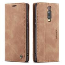 CaseMe - Xiaomi Mi 9T hoesje - Wallet Book Case - Magneetsluiting - Licht Bruin
