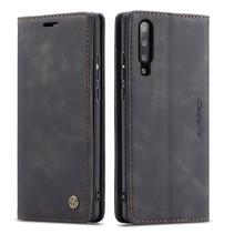CaseMe - Xiaomi Mi 9 hoesje - Wallet Book Case - Magneetsluiting - Zwart