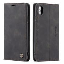 CaseMe - iPhone X/XS hoesje - Wallet Book Case - Magneetsluiting - Zwart