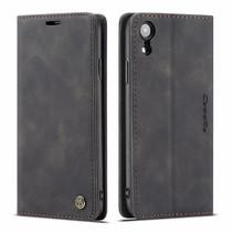 CaseMe - iPhone XR hoesje - Wallet Book Case - Magneetsluiting - Zwart