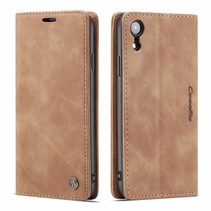 CaseMe - iPhone XR hoesje - Wallet Book Case - Magneetsluiting - Licht Bruin