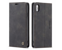 CaseMe - iPhone Xs Max hoesje - Wallet Book Case - Magneetsluiting - Zwart
