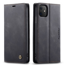 CaseMe - iPhone 11 hoesje - Wallet Book Case - Magneetsluiting - Zwart